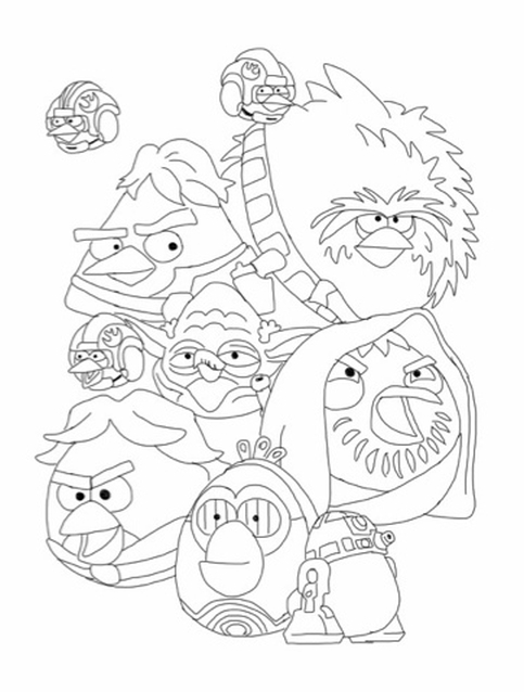 Kolorowanka Angry Birds Star Wars Nr 31
