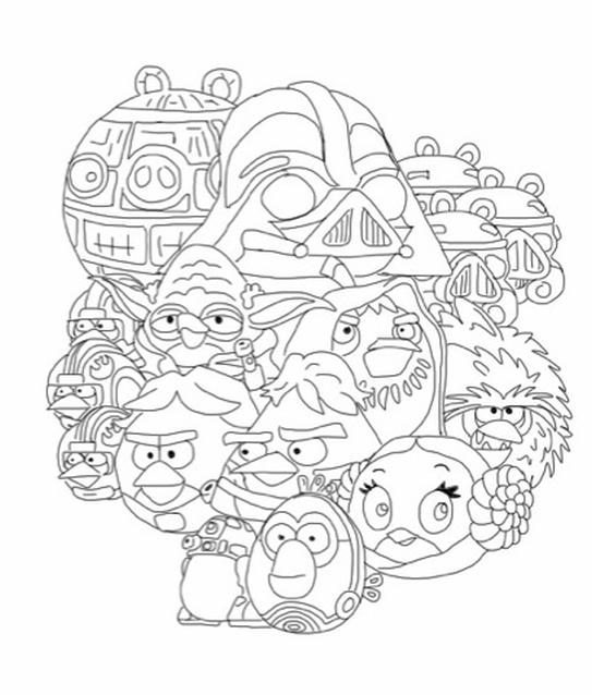 Kolorowanka Angry Birds Star Wars Nr 34