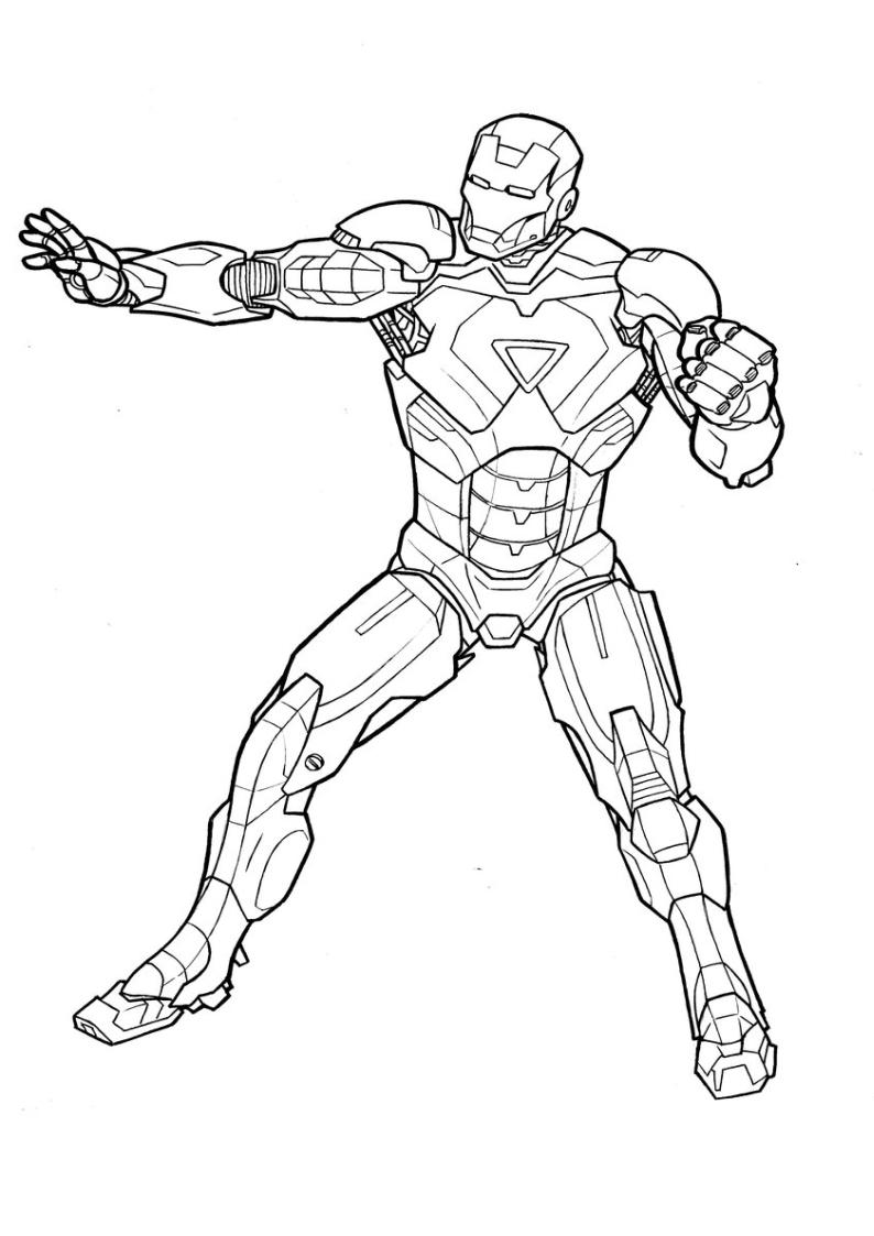 Kolorowanka Avengers Iron Man Do Wydruku Nr 16