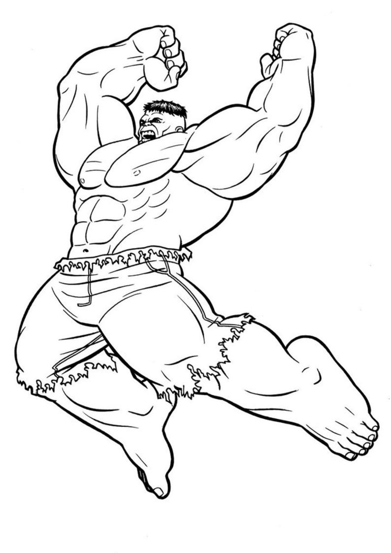 Kolorowanka Avengers Hulk Do Wydruku Nr 31
