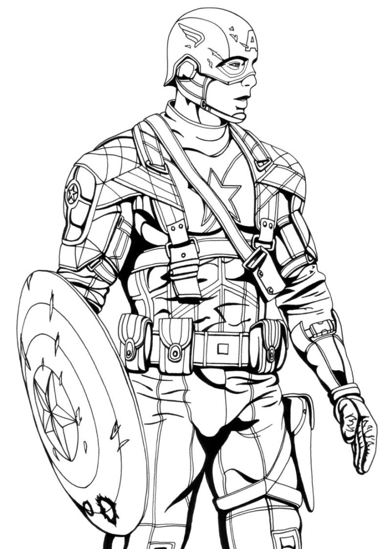 Kolorowanka Kapitan Ameryka Avengers Malowanka Nr 34