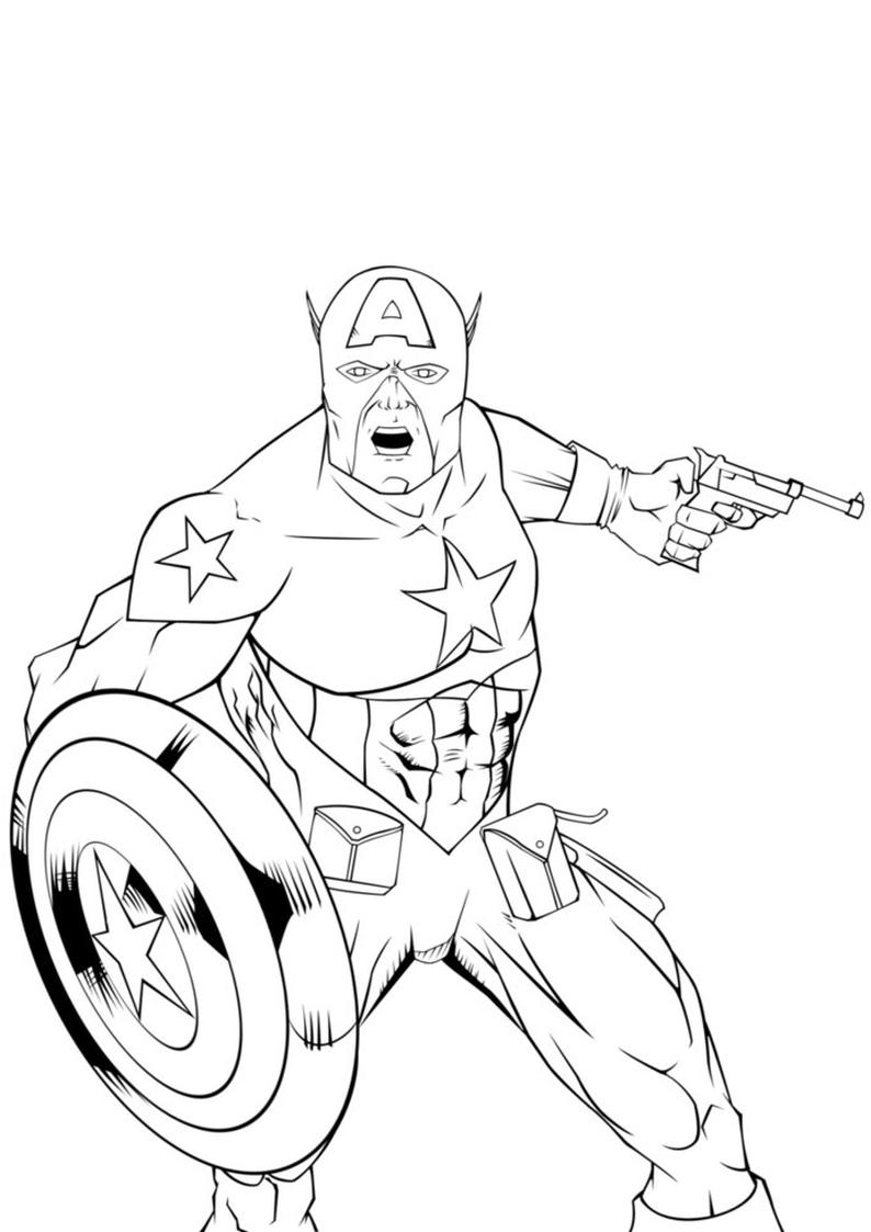 Kolorowanka Avengers Kapitan Ameryka Nr 36