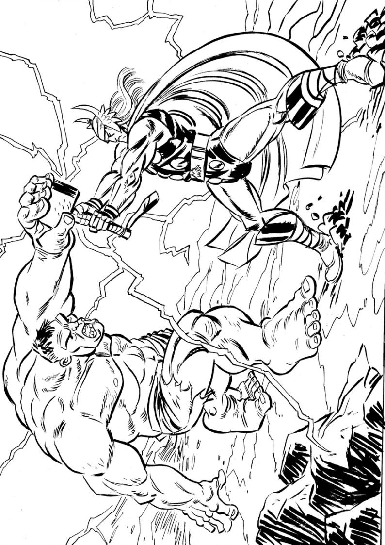 Kolorowanka Avengers Malowanka Hulk I Thor
