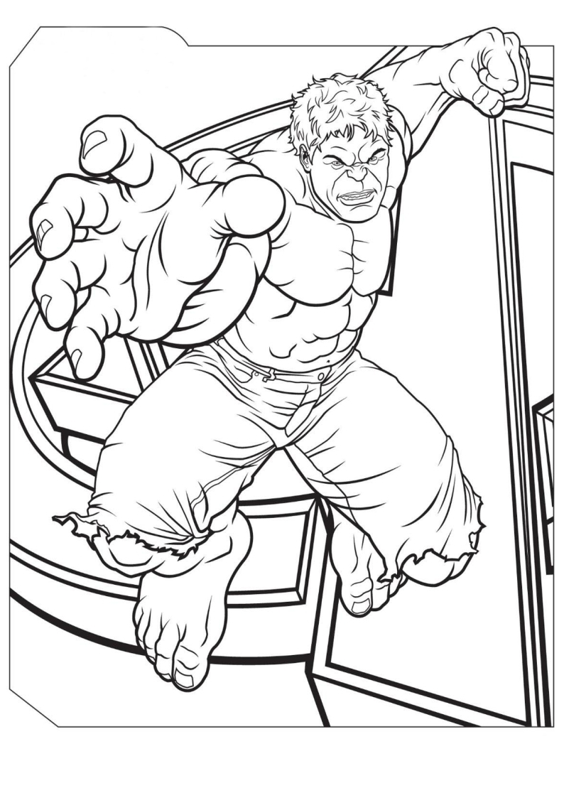 Kolorowanka Avengers Hulk Do Wydruku Nr 4