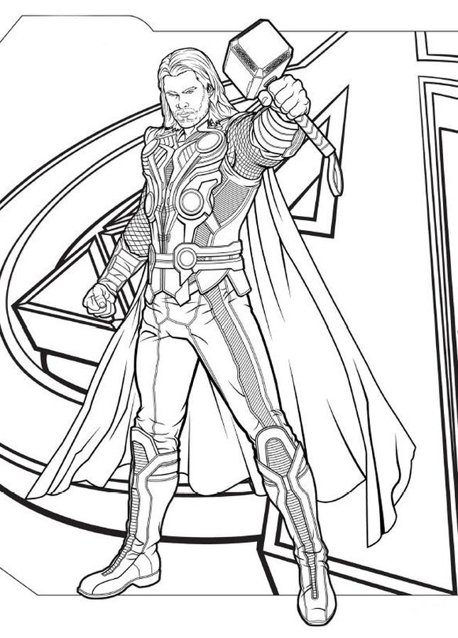 Kolorowanka Avengers Malowanka Wydruku