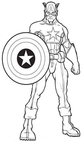 kolorowanka avengers kapitan ameryka nr 5