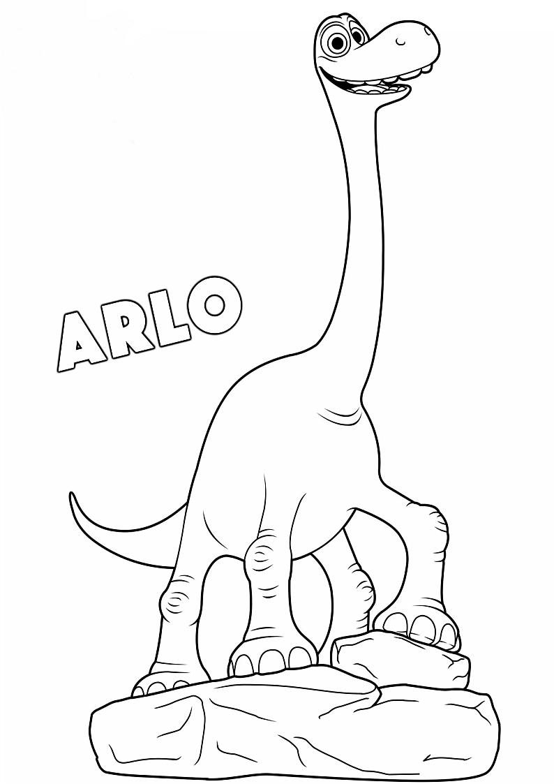 Kolorowanka Dobry Dinozaur Malowanka Wydruku