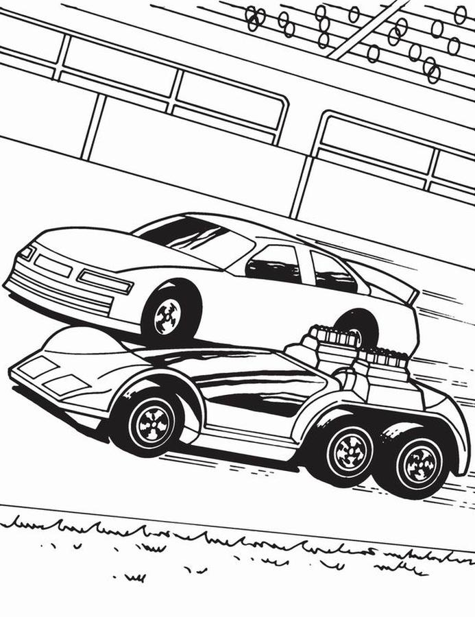 kolorowanka samoch d hot wheels   malowanka do wydruku nr 29