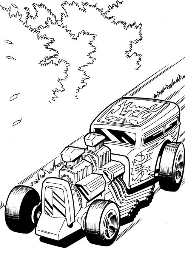 Kolorowanka Hot Wheels Malowanka Samochod Nr 4