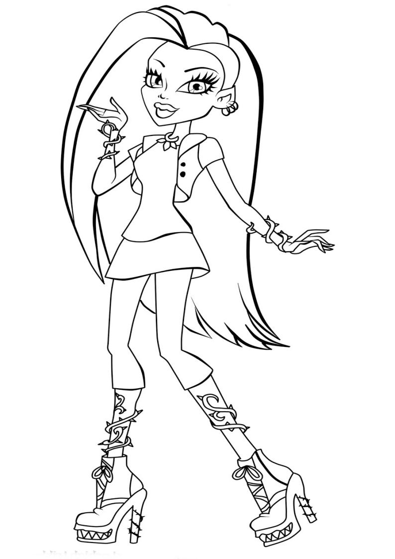 Kolorowanka Monster High Venus Mcflytrap Nr 14