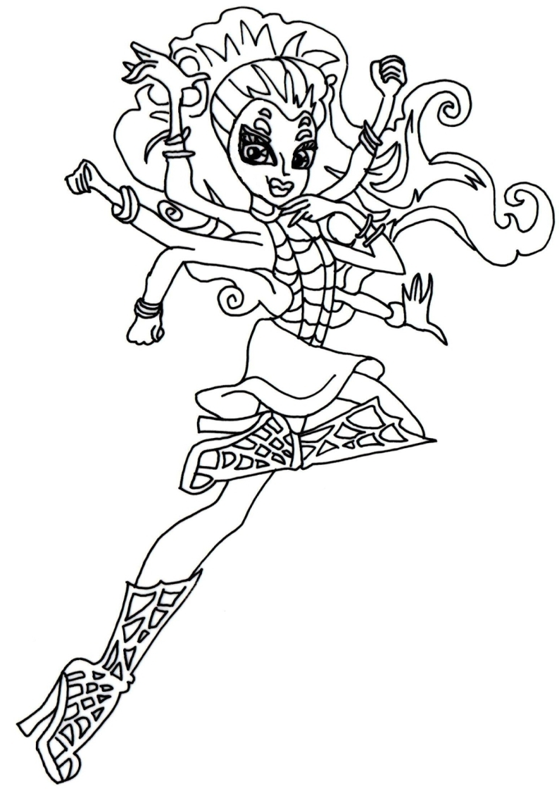 Kolorowanki Monster High Do Wydruku Strona 4