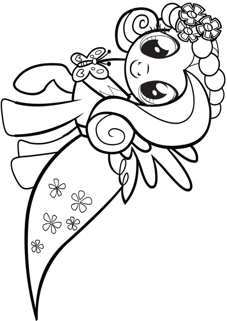 Kolorowanka My Little Pony Fluttershy Do Wydruku Nr 17