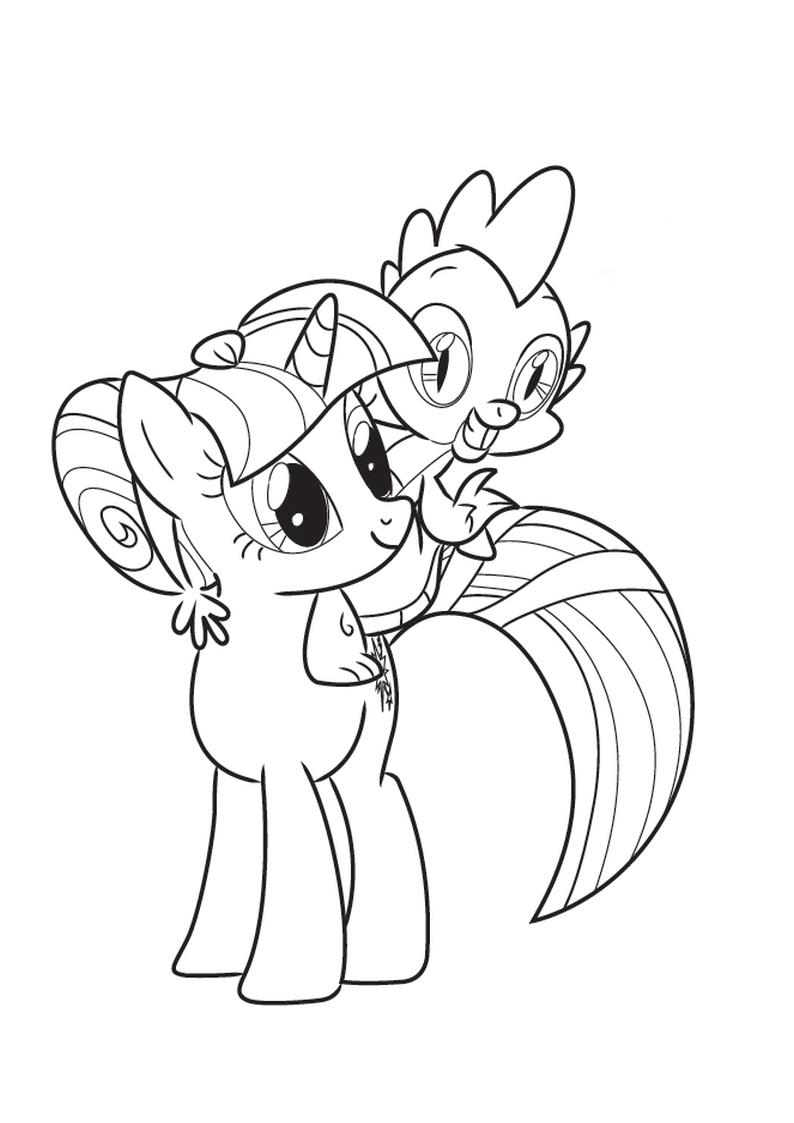 Kolorowanka My Little Pony Twilight Sparkle I Spike Nr 2