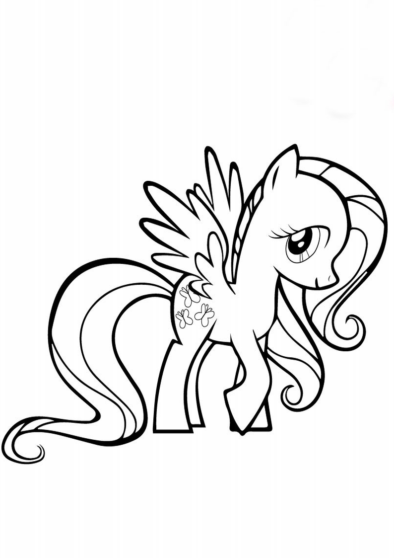 Kolorowanka My Little Pony Fluttershy Pegaz Nr 49