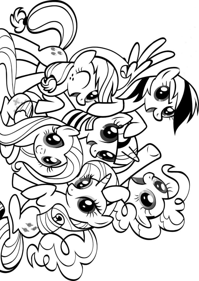 Kolorowanka Kucyki My Little Pony Malowanka Do Wydruku Nr 55