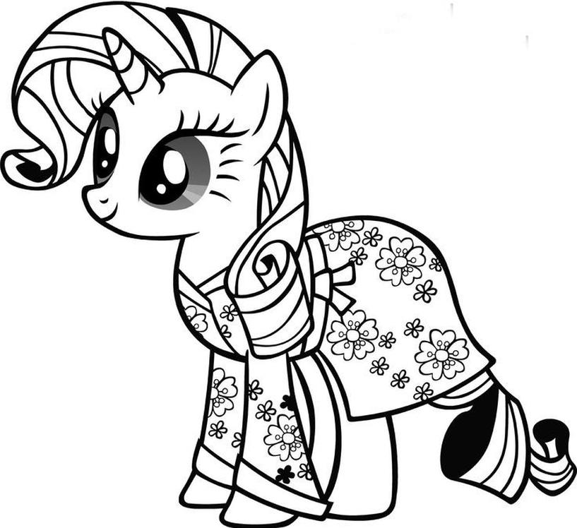 Kolorowanka My Little Pony Rarity Malowanka Do Wydruku Nr 66