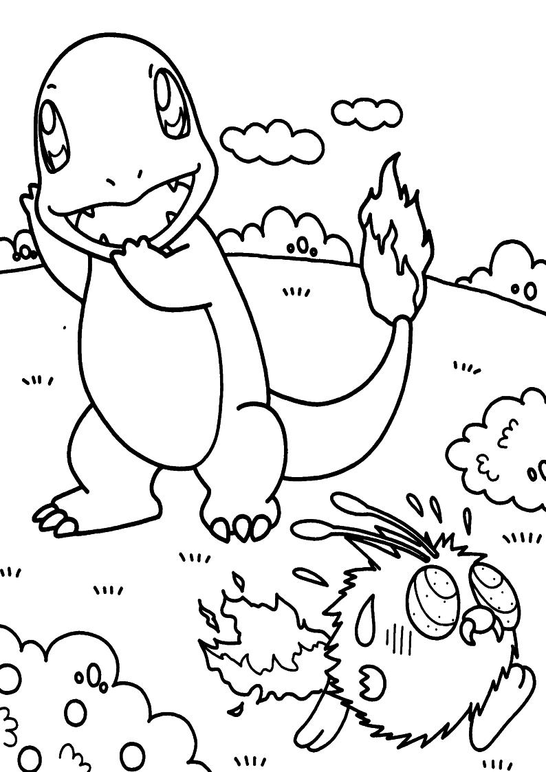 Kolorowanka Pokemon Charmander Nr 21