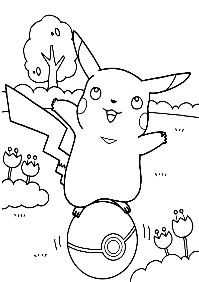 Kolorowanka Pikachu Pokemon Malowanka Do Wydruku Nr 42