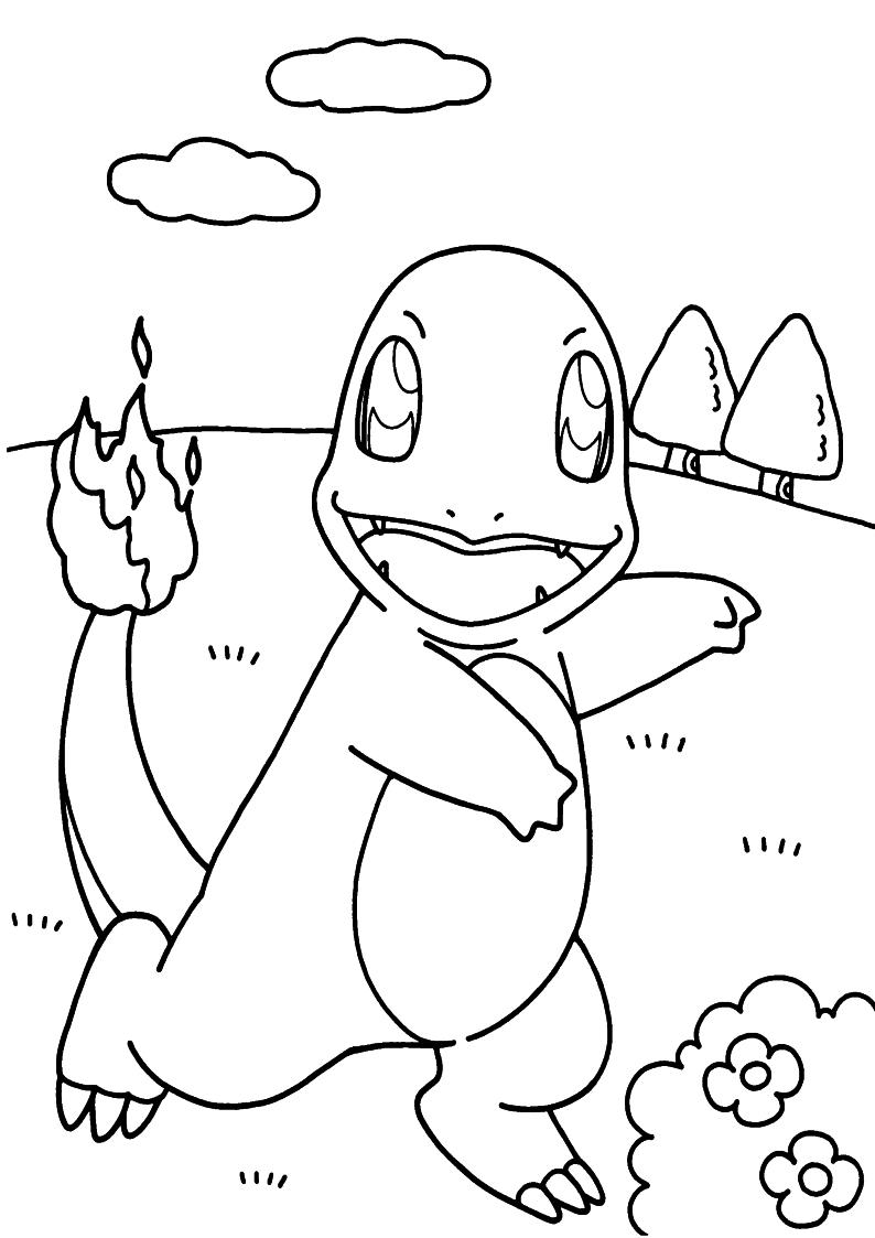 Kolorowanka Charmander Pokemon Malowanka Do Wydruku Nr 49