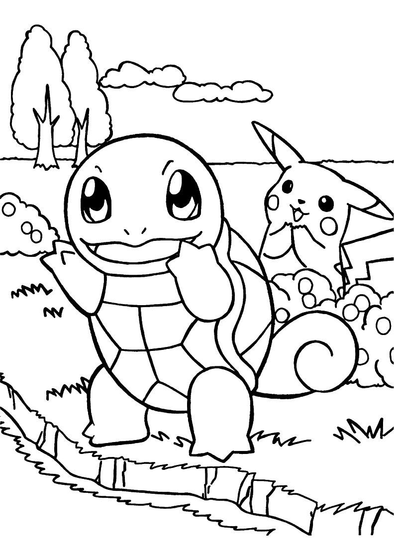 Kolorowanka Pokemon ż 243 łw Squirtle