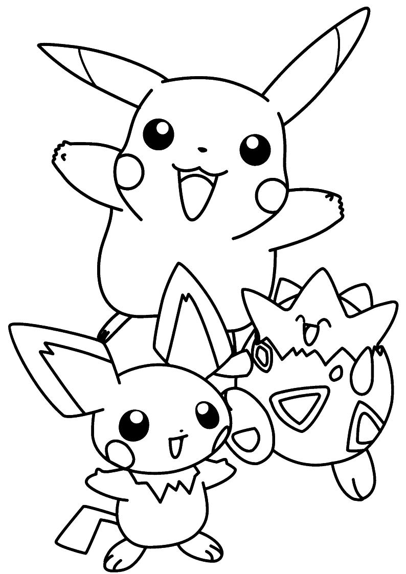 Kolorowanka Pikachu Pokemon Malowanka Do Wydruku Nr 6