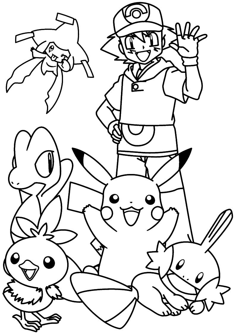 Pokemon Kolorowe Strony Do Druku 4 Darmowe Pokemon Kolorowanki Do