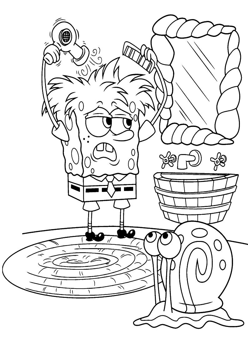 Kolorowanki Spongebob Malowanki Do Wydruku