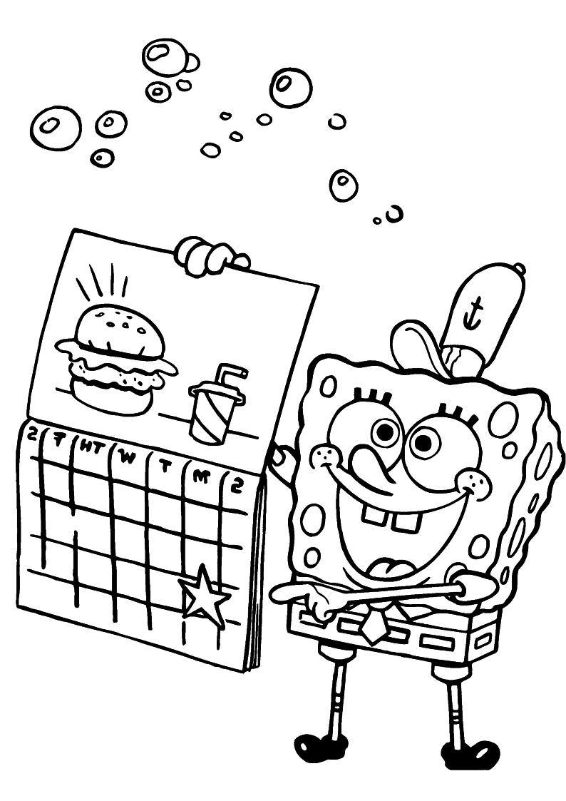 Kolorowanka Spongebob Do Wydruku Malowanka Nr 51