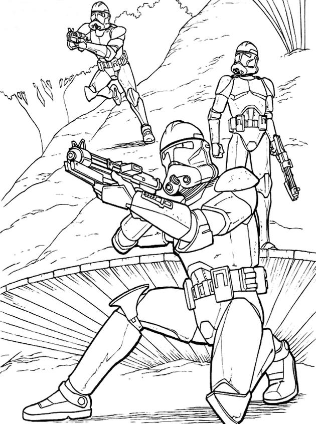 Раскраски для мальчиков звездные войны - 8